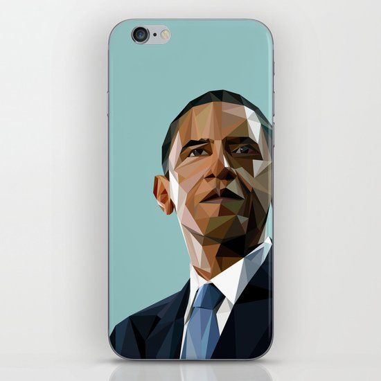 Geometric Obama iPhone Skin