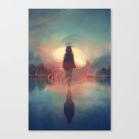 breathe Canvas Prints featuring breathe by loish