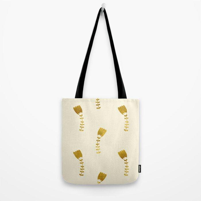 Cream Gold Foil 03 Tote Bag