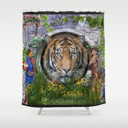A wildlife, Bengal-tiger Shower Curtain