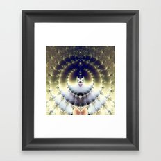 Psychedelic Sun Framed Art Print