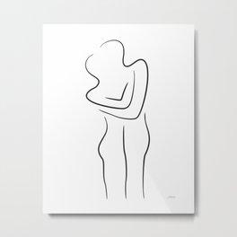 Minimalist embrace sketch. Metal Print