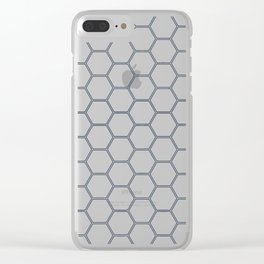 Honeycomb Navy #278 Clear iPhone Case