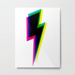 CMYK Lightning Metal Print