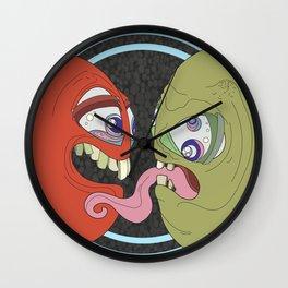Barthalamou and Trina in Love Wall Clock