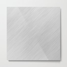 Abstract white noise - a simple striped pattern Metal Print