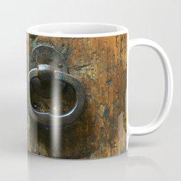 Old Wooden Door with Keyholes Coffee Mug