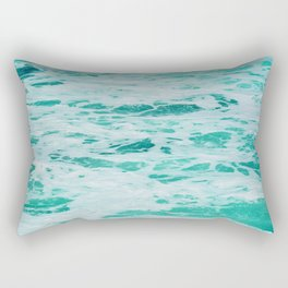 teal waves Rectangular Pillow