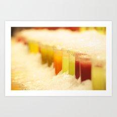 Frozen Colors Art Print