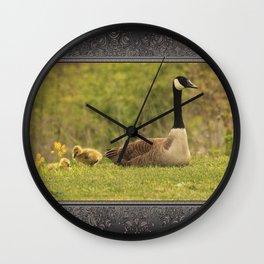 Canada Goose Family Wall Clock
