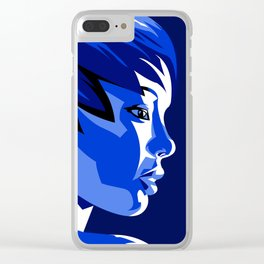 Blue Shadow Clear iPhone Case