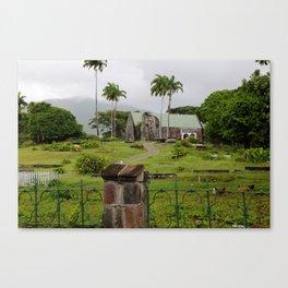 Palms on a Hill Canvas Print