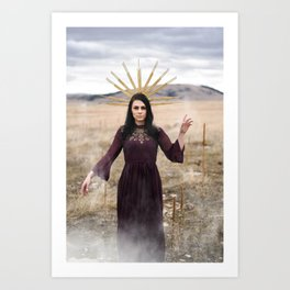 Clairvoyant Witch Art Print