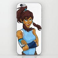 korra iPhone & iPod Skins featuring Korra by Haley Martin