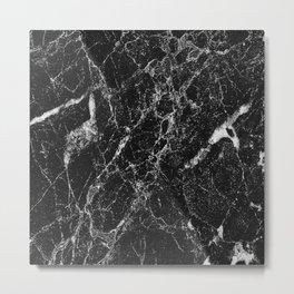 Black Marble 2 Metal Print