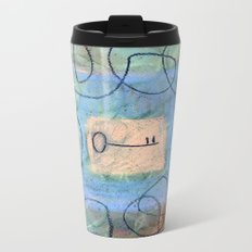 key in maze Metal Travel Mug
