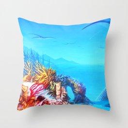 Manta Bay Throw Pillow