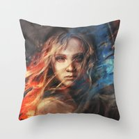 lady gaga Throw Pillows featuring Do You Hear the People Sing? by Alice X. Zhang
