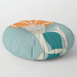 Rhymes With Orange Floor Pillow