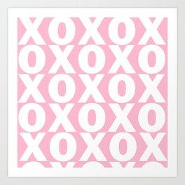 XOXO - Light Pink Pattern Art Print