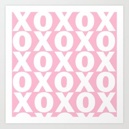 XOXO - Light Pink Pattern Art Print