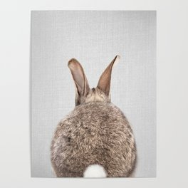 Rabbit Tail - Colorful Poster