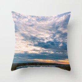 Tennessee-Georgia Border Throw Pillow
