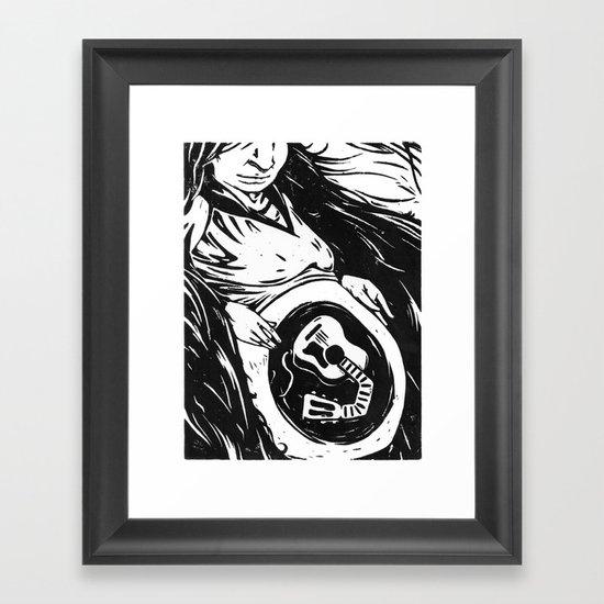 The Mother of Music Framed Art Print