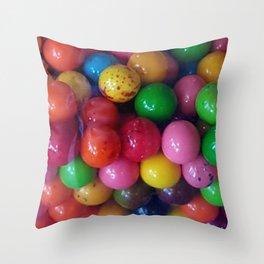 Gumballs Throw Pillow
