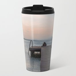 Watching the Sunset on the dock Travel Mug