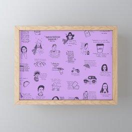 Gilmore Girls Quotes in Purple Framed Mini Art Print