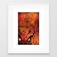 sasquatch Framed Art Prints featuring Sasquatch by Laurelle Armet