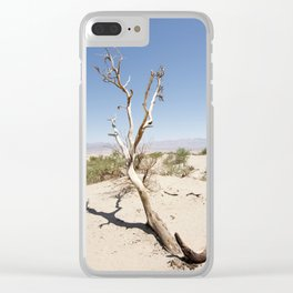 Tree branch Dune Death Valley Clear iPhone Case