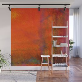 Orange Study #3 Digital Painting Wall Mural