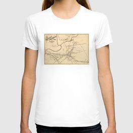 Vintage Battle of Concord Map (1875) T-shirt