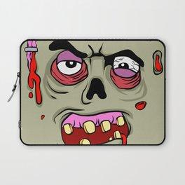 Cartoon Zombie face Laptop Sleeve
