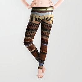 Abstract Upright Piano - Music, Classical, Geometric, Piano Keys, Music Notes Leggings