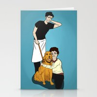 pushing daisies Stationery Cards featuring PUSHING DAISIES + HANNIBAL: That's Not Your Dog by Mandy Quesadilla