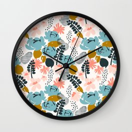 late summer floral Wall Clock