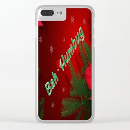 Bah Humbug Clear iPhone Case