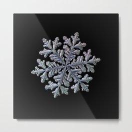 Real snowflake - Hyperion black Metal Print
