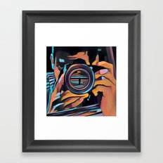 Eye of glass Framed Art Print