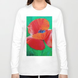Single Poppy Long Sleeve T-shirt