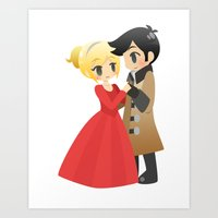 captain swan Art Prints featuring OUAT - Captain Swan Formal by Choco-Minto