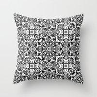 oriental Throw Pillows featuring Oriental Pattern by LebensARTdesign