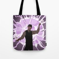 tesla Tote Bags featuring Tesla by Todd A. Winter