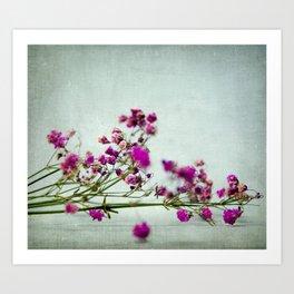 pink florets branch Art Print