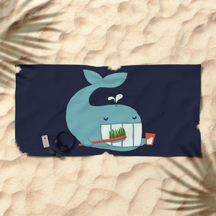 Brush Your Teeth Beach Towel