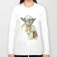 yoda Long Sleeve T-shirts featuring YODA by carotoki art and love