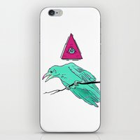 occult iPhone & iPod Skins featuring occult raven by Ewa Pacia